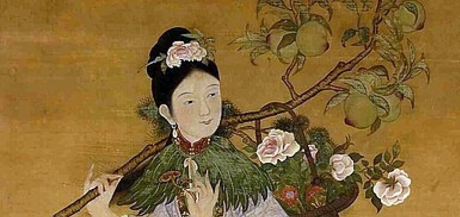 Мъ-гу, богинята на долголетието, свитък от XVIII век,