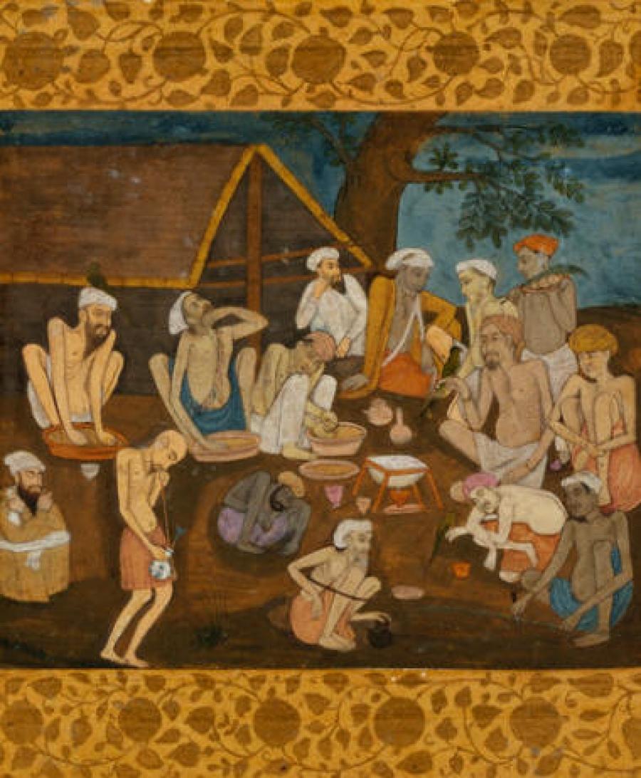 Факири приготвят бханг и ганджа.