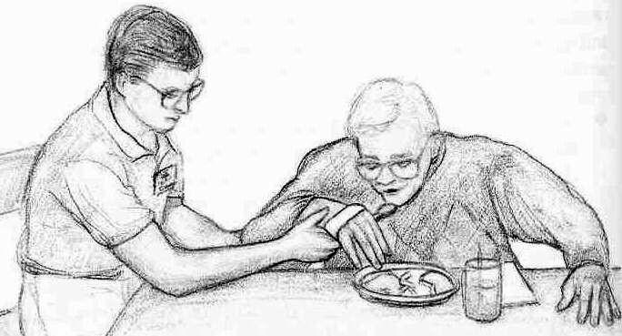 Как правилно трябва да се помага на пациент при хранене, с болест на Паркинсон