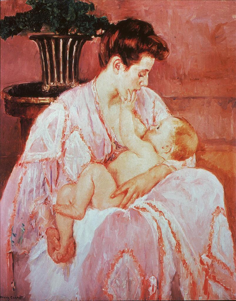 Майка кърми бебе